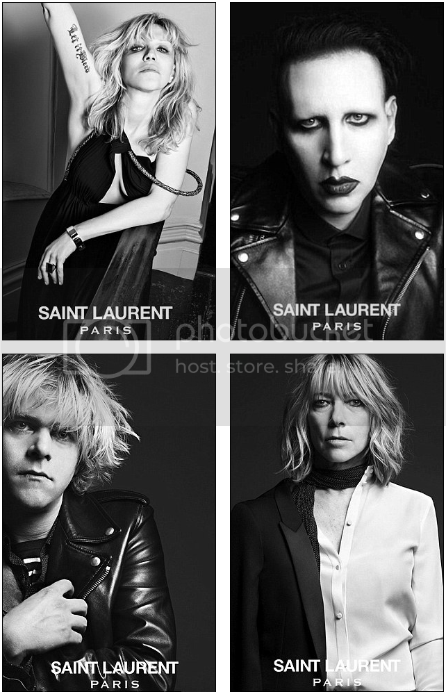 Heidi Slimane, Yves Saint Laurent, Marilyn Manson, Courtney Love